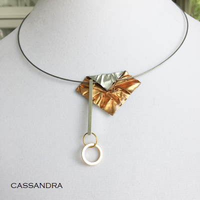 Collier Casssandra orange