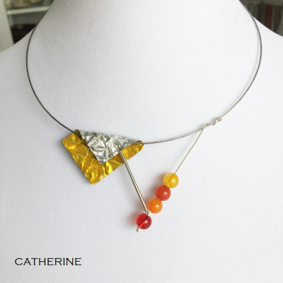 Collier Catherine jaune