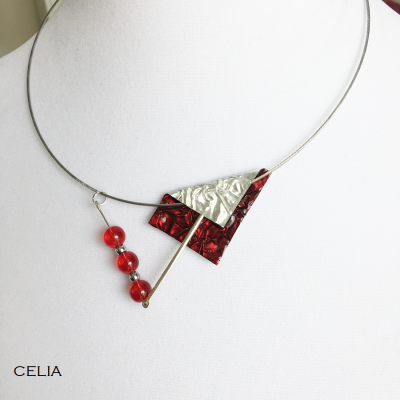 Collier Celia rouge